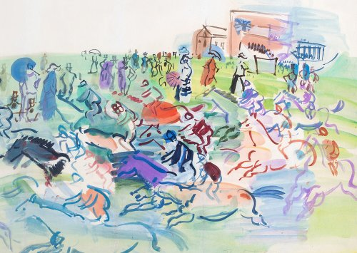 Raoul DUFY (1877- 1953) - The races at Epson