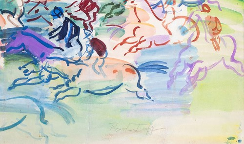 Paintings & Drawings  - Raoul DUFY (1877- 1953) - The races at Epson