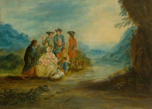 Andréas MARTIN (1699 - 1763) -  Genre scene (a pair)