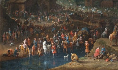 17th century - Karel BREYDEL (1678 - 1733) - The convoy halt (A pair)