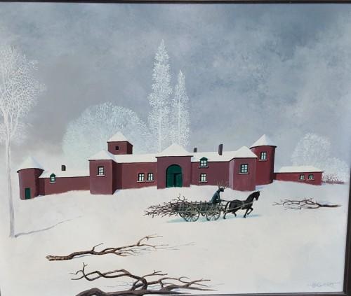 Snow - Gaston BOGAERT  (1918 - 2008)  - Paintings & Drawings Style