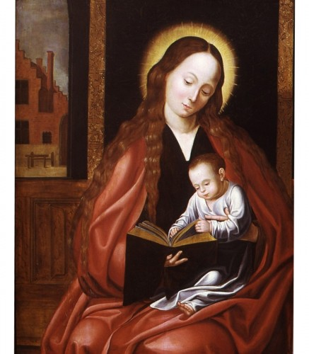 Pieter Jansz POURBUS (1587-1631) - Virgin and child reading