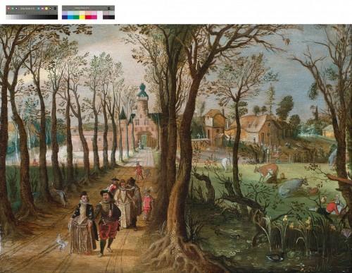 The seasons (Pair) - Sébastien VRANCX ( 1575- 1647)  - Paintings & Drawings Style