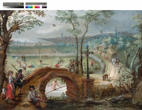 Paintings & Drawings  - The seasons (Pair) - Sébastien VRANCX ( 1575- 1647)