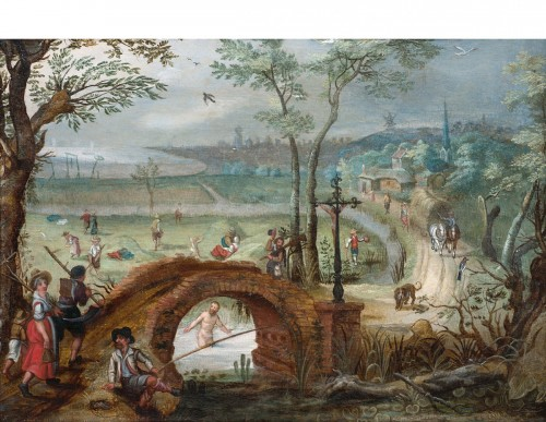 The seasons (a pair) - Sébastien VRANCX ( 1575- 1647)