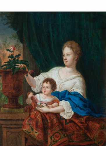 Young woman and her child - Gaspar NETSCHER (1639 - 1684)