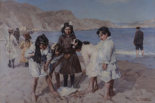 Léon ZEYTLINE (1885-1962) - Sand castle
