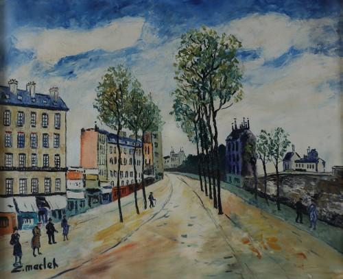 Elysée MACLET (1881-1962) - Street Caulaincourt in Paris