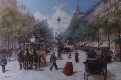 Léon ZEYTLINE ( 1889 - 1962) - Boulevard des Italiens in Paris
