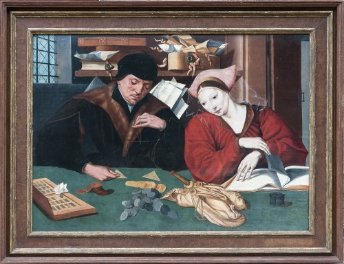 Marinus Van REYMERSWAEL and study - The changeur and his wife
