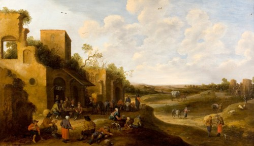 Joost Cornélis Droogsloot  (1586-1666) - Vue of a village