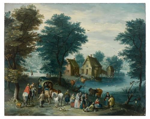 Joseph Van BREDAEL (1688 - 1739) - Landscape with figures