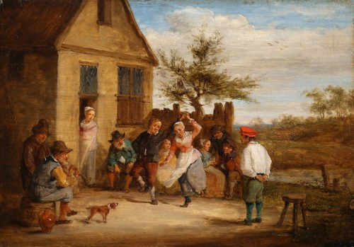 Paintings & Drawings  - Village feast & Card players - David TENIERS III