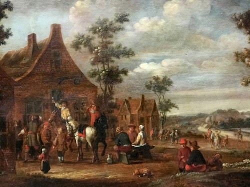 Barend GAË (1630 - 1698) - The stopover at the auberg