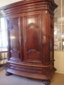 A Louis XIV mahogany cabinet from Bordeaux