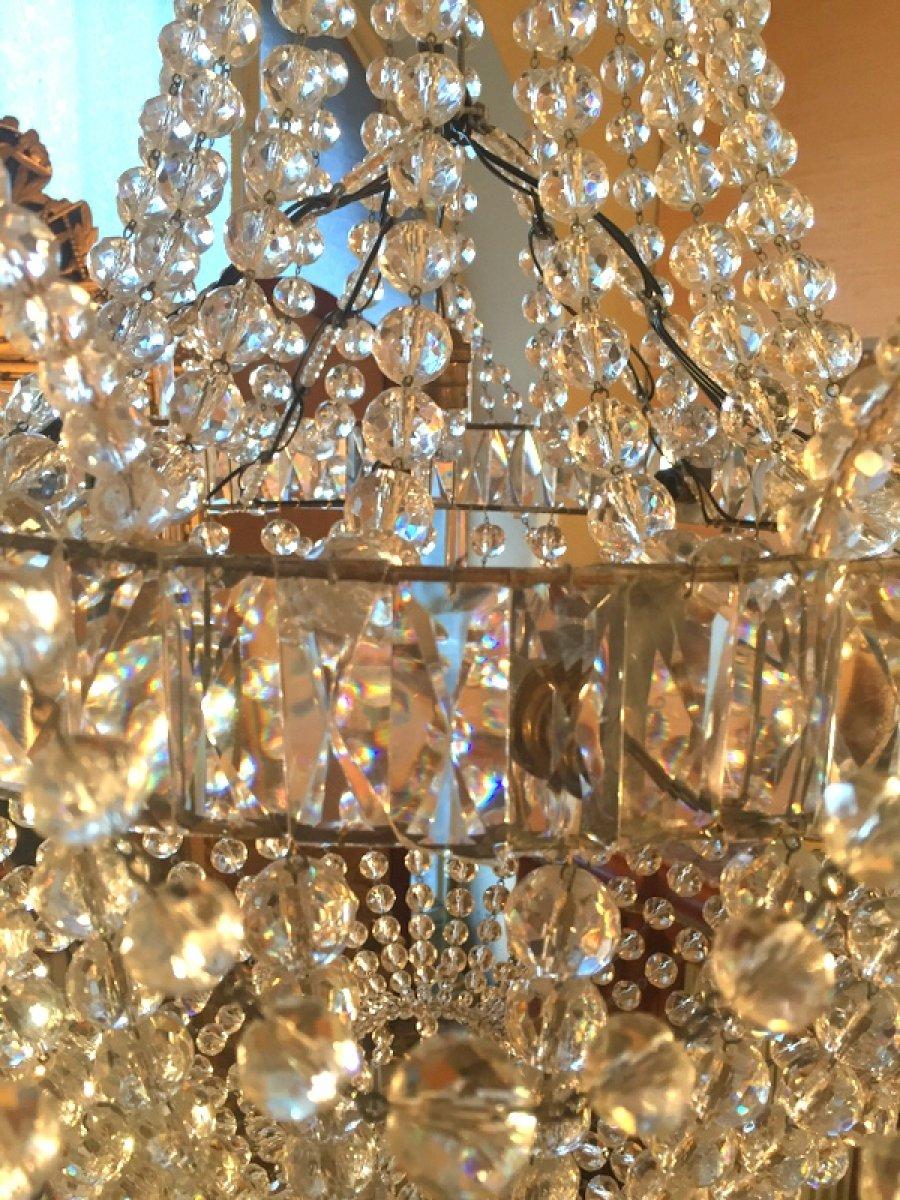 lustre montgolfi re en cristal xixe si cle. Black Bedroom Furniture Sets. Home Design Ideas