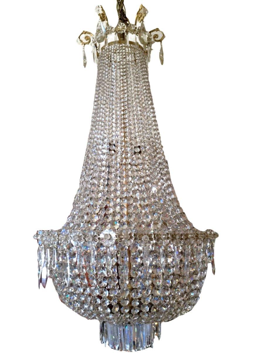 lustre montgolfi re en cristal de baccarat xixe si cle. Black Bedroom Furniture Sets. Home Design Ideas