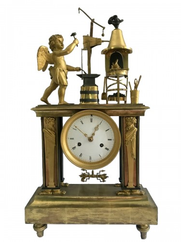Bronze Directoire clock - The Blacksmith
