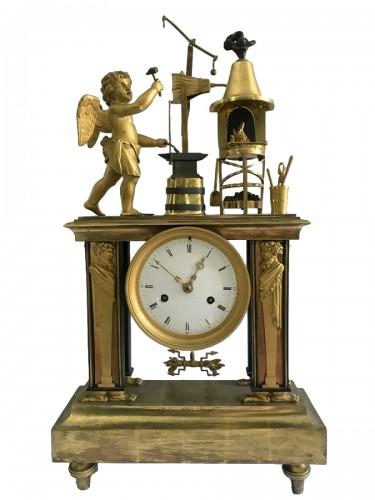 Bronze Directoire clock - The Blacksmith