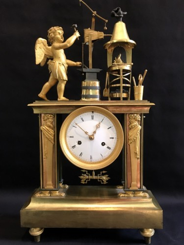 Bronze Directoire clock - The Blacksmith - Clocks Style Directoire
