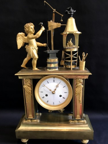 Clocks  - Bronze Directoire clock - The Blacksmith