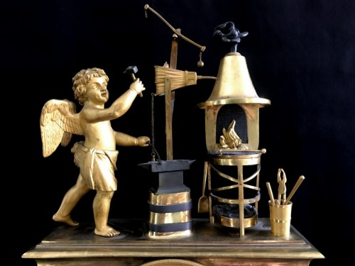 18th century - Bronze Directoire clock - The Blacksmith