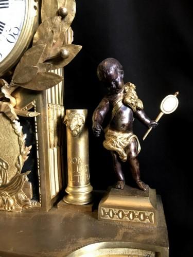 Clocks  - French Louis XVI gilt bronze clock