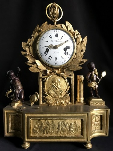 Antiquités - French Louis XVI gilt bronze clock
