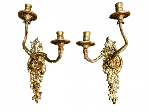 Pair of early 18th century wall sconces