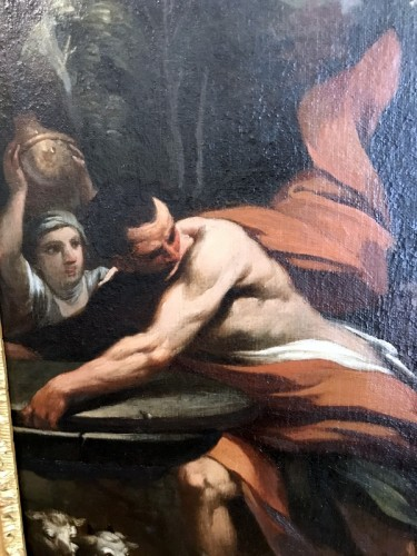 Paintings & Drawings  - Rebecca at the Fountain - 17th Century Italian School