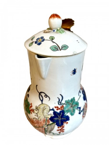 Pitcher covered in Chantilly porcelain
