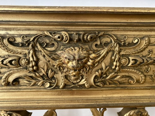 Napoleon III planter in gilded wood - Furniture Style Napoléon III