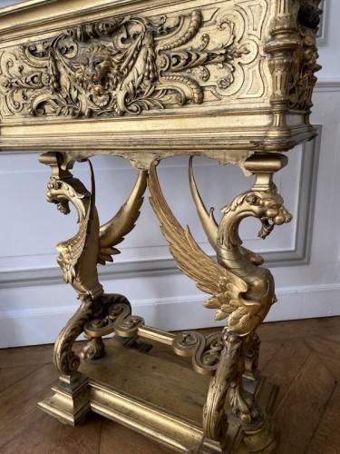 Napoleon III planter in gilded wood - Napoléon III
