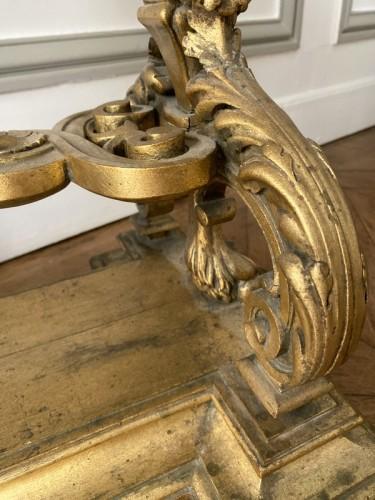 Antiquités - Napoleon III planter in gilded wood