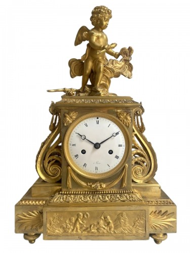 A gilt bronze Directoire clock