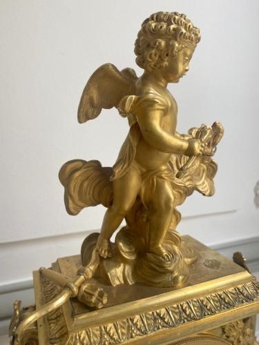 A gilt bronze Directoire clock -
