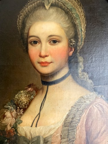 Medallion portrait of a lady - Paintings & Drawings Style Louis XVI
