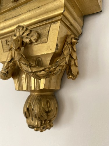 Antiquités - Transition wall light in gilded bronze