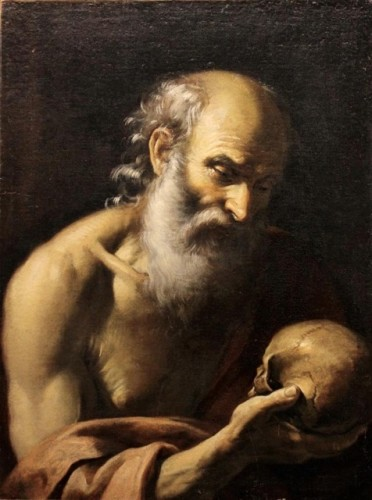 Saint Jerome in Pentinence - Naples School 17th Century