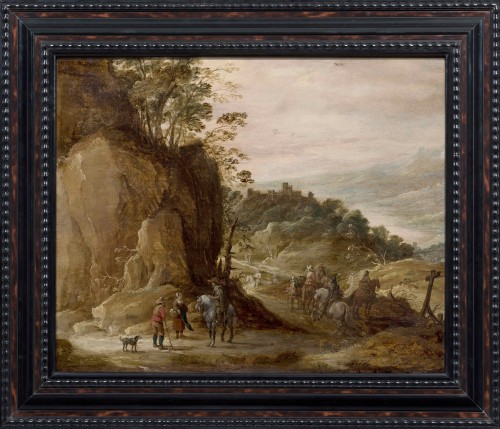 Joos De Momper and Jan Brueghel II - Landscape with Horsemen