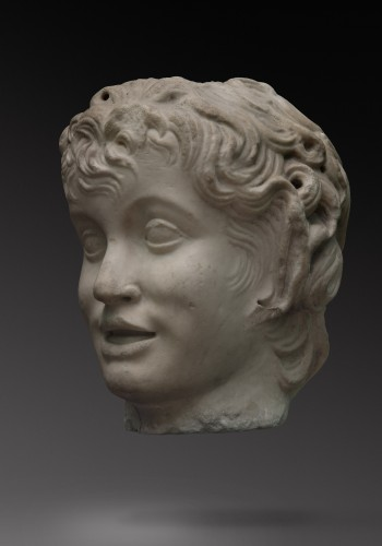 Marble Head of a Satyr - Sculpture Style