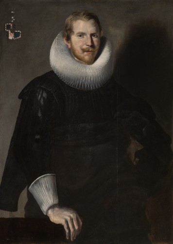 Portrait of a Man - Oil on Panel 17th century