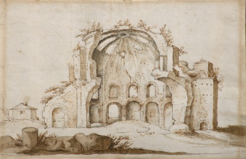 View of Minerva Medica - Flemish School around 1600