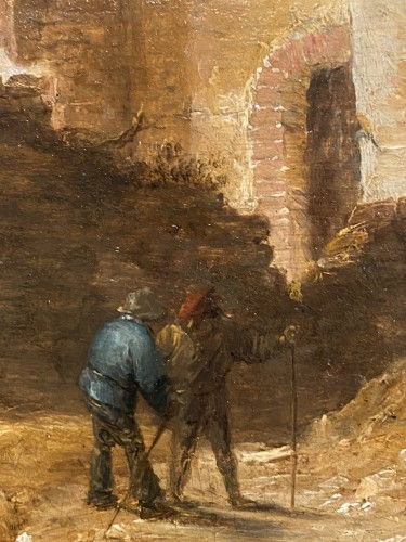 Landscape with figures and ruins - David II Teniers (vers 1675-1690) - Paintings & Drawings Style