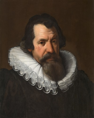 Portrait of a man with cartwheel collar (ruff)