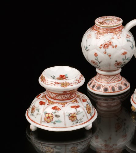 Asian Art & Antiques  - Two Saltcellars and a Mustard Pot, Japan, Dutch decorated