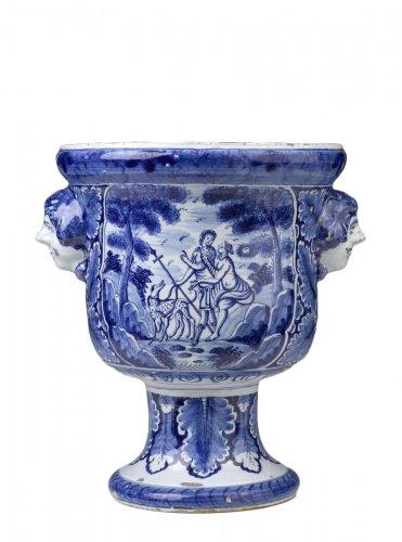 Dutch Delftware Urn-shaped Jardinière
