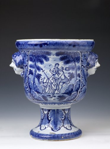 Dutch Delftware Urn-shaped Jardinière - Porcelain & Faience Style