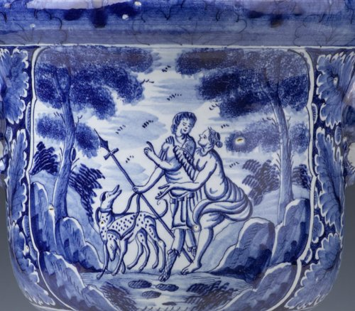 Dutch Delftware Urn-shaped Jardinière -