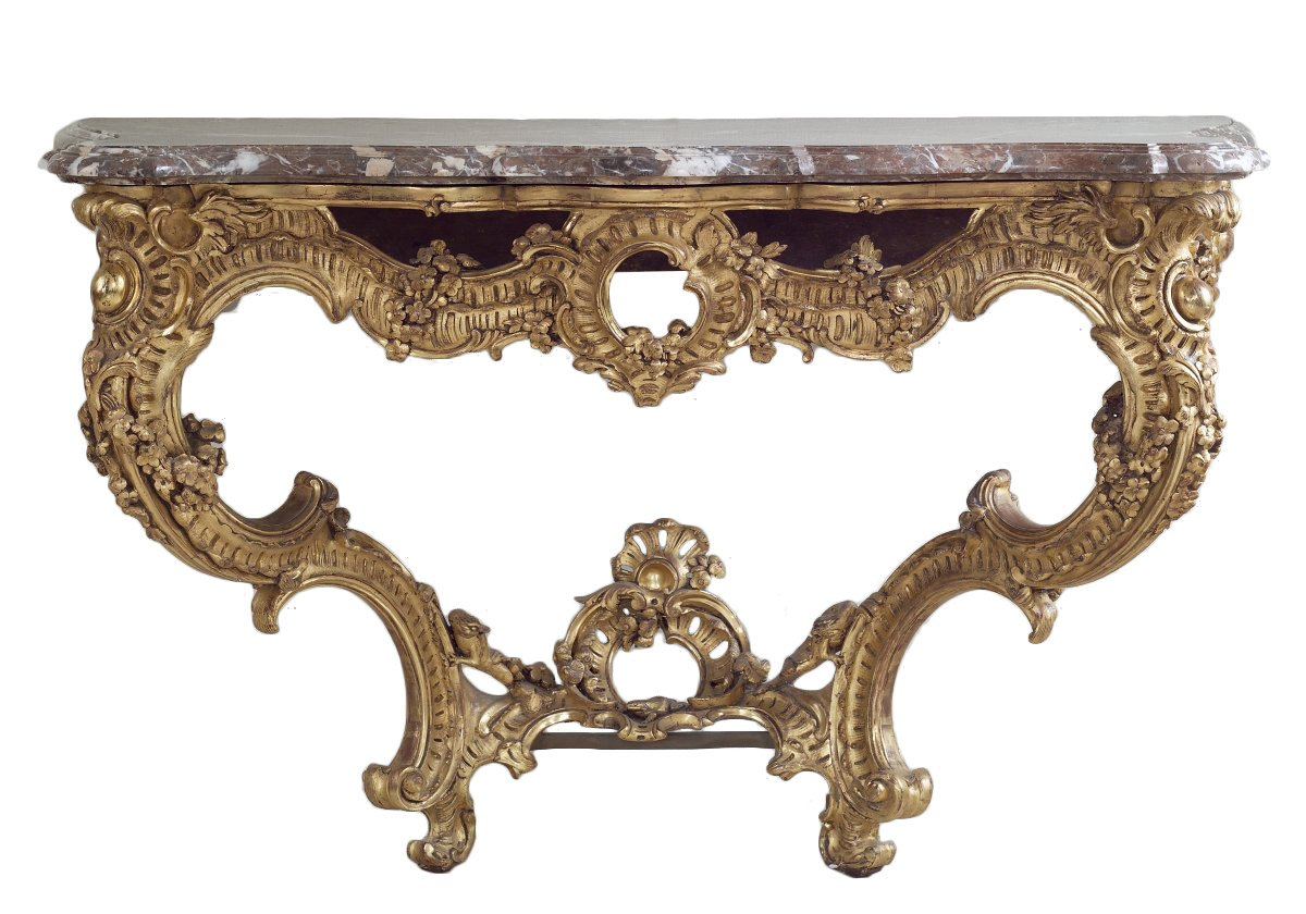 French gilt wood louis xv console table - Table louis xv ...